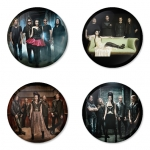 Evanescence button badge 1.75 inch custom backside 4 type Pinback, Magnet, Mirror or Keychain. Get 4 in package [7]