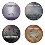 Imagine Dragon button badge 1.75 inch custom backside 4 type Pinback, Magnet, Mirror or Keychain. Get 4 in package [1]