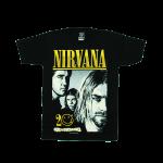 เสื้อยืด วง Nirvana แขนสั้น สกรีนเฉพาะด้านหน้า สั่งได้ทุกขนาด S-XXL [NTS]