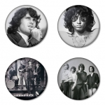 The Doors button badge 1.75 inch custom backside 4 type Pinback, Magnet, Mirror or Keychain. Get 4 in package [2]