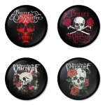 Bullet for my Valentine button badge 1.75 inch custom backside 4 type Pinback, Magnet, Mirror or Keychain. Get 4 in package [5]