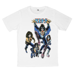 KISS rock band t shirts white tees cotton 100 S M L XL XXL [3]