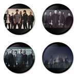 Linkin Park button badge 1.75 inch custom backside 4 type Pinback, Magnet, Mirror or Keychain. Get 4 in package [5]
