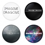 Imagine Dragon button badge 1.75 inch custom backside 4 type Pinback, Magnet, Mirror or Keychain. Get 4 in package [11]