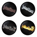 Judas Priest button badge 1.75 inch custom backside 4 type Pinback, Magnet, Mirror or Keychain. Get 4 in package [2]