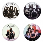 Queen button badge 1.75 inch custom backside 4 type Pinback, Magnet, Mirror or Keychain. Get 4 in package [12]