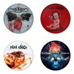 Papa Roach button badge 1.75 inch custom backside 4 type Pinback, Magnet, Mirror or Keychain. Get 4 in package [1]