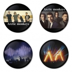 Arctic Monkeys button badge 1.75 inch custom backside 4 type Pinback, Magnet, Mirror or Keychain. Get 4 in package [14]