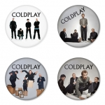 Coldplay button badge 1.75 inch custom backside 4 type Pinback, Magnet, Mirror or Keychain. Get 4 in package [9]
