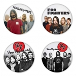 Foo Fighters button badge 1.75 inch custom backside 4 type Pinback, Magnet, Mirror or Keychain. Get 4 in package [7]