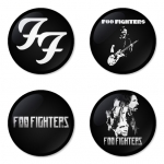 Foo Fighters button badge 1.75 inch custom backside 4 type Pinback, Magnet, Mirror or Keychain. Get 4 in package [5]