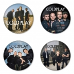 Coldplay button badge 1.75 inch custom backside 4 type Pinback, Magnet, Mirror or Keychain. Get 4 in package [12]
