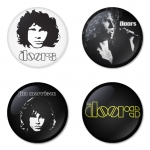 The Doors button badge 1.75 inch custom backside 4 type Pinback, Magnet, Mirror or Keychain. Get 4 in package [6]