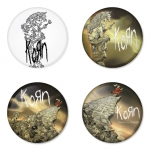 Korn button badge 1.75 inch custom backside 4 type Pinback, Magnet, Mirror or Keychain. Get 4 in package [2]