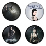 Evanescence button badge 1.75 inch custom backside 4 type Pinback, Magnet, Mirror or Keychain. Get 4 in package [5]