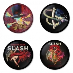 Slash button badge 1.75 inch custom backside 4 type Pinback, Magnet, Mirror or Keychain. Get 4 in package [3]