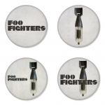 Foo Fighters button badge 1.75 inch custom backside 4 type Pinback, Magnet, Mirror or Keychain. Get 4 in package [1]