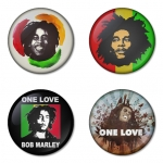 Bob Marley button badge 1.75 inch custom backside 4 type Pinback, Magnet, Mirror or Keychain. Get 4 in package [2]