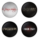Linkin Park button badge 1.75 inch custom backside 4 type Pinback, Magnet, Mirror or Keychain. Get 4 in package [12]