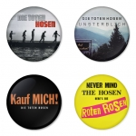 Die Toten Hosen button badge 1.75 inch custom backside 4 type Pinback, Magnet, Mirror or Keychain. Get 4 in package [2]