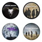 Imagine Dragon button badge 1.75 inch custom backside 4 type Pinback, Magnet, Mirror or Keychain. Get 4 in package [2]