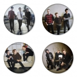 Sum41 button badge 1.75 inch custom backside 4 type Pinback, Magnet, Mirror or Keychain. Get 4 in package [4]