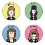 Ramones button badge 1.75 inch custom backside 4 type Pinback, Magnet, Mirror or Keychain. Get 4 in package [10]