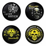 Die Toten Hosen button badge 1.75 inch custom backside 4 type Pinback, Magnet, Mirror or Keychain. Get 4 in package [10]