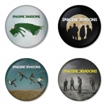Imagine Dragon button badge 1.75 inch custom backside 4 type Pinback, Magnet, Mirror or Keychain. Get 4 in package [3]
