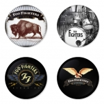 Foo Fighters button badge 1.75 inch custom backside 4 type Pinback, Magnet, Mirror or Keychain. Get 4 in package [10]