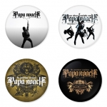 Papa Roach button badge 1.75 inch custom backside 4 type Pinback, Magnet, Mirror or Keychain. Get 4 in package [4]