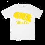 เสื้อยืด วง Nirvana สีขาว แขนสั้น S M L XL XXL [5]