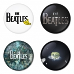 The Beatles button badge 1.75 inch custom backside 4 type Pinback, Magnet, Mirror or Keychain. Get 4 in package [9]
