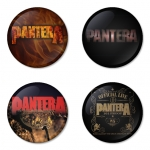 Pantera button badge 1.75 inch custom backside 4 type Pinback, Magnet, Mirror or Keychain. Get 4 in package [1]