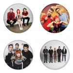 Paramore button badge 1.75 inch custom backside 4 type Pinback, Magnet, Mirror or Keychain. Get 4 in package [8]