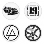 Linkin Park button badge 1.75 inch custom backside 4 type Pinback, Magnet, Mirror or Keychain. Get 4 in package [18]