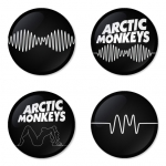Arctic Monkeys button badge 1.75 inch custom backside 4 type Pinback, Magnet, Mirror or Keychain. Get 4 in package [5]