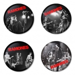 Ramones button badge 1.75 inch custom backside 4 type Pinback, Magnet, Mirror or Keychain. Get 4 in package [6]