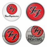 Foo Fighters button badge 1.75 inch custom backside 4 type Pinback, Magnet, Mirror or Keychain. Get 4 in package [4]