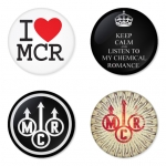 My Chemical Romance button badge 1.75 inch custom backside 4 type Pinback, Magnet, Mirror or Keychain. Get 4 in package [15]