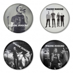 Imagine Dragon button badge 1.75 inch custom backside 4 type Pinback, Magnet, Mirror or Keychain. Get 4 in package [9]