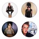 Papa Roach button badge 1.75 inch custom backside 4 type Pinback, Magnet, Mirror or Keychain. Get 4 in package [7]