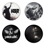 Linkin Park button badge 1.75 inch custom backside 4 type Pinback, Magnet, Mirror or Keychain. Get 4 in package [14]