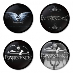 Evanescence button badge 1.75 inch custom backside 4 type Pinback, Magnet, Mirror or Keychain. Get 4 in package [9]