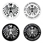 Die Toten Hosen button badge 1.75 inch custom backside 4 type Pinback, Magnet, Mirror or Keychain. Get 4 in package [7]