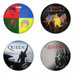 Queen button badge 1.75 inch custom backside 4 type Pinback, Magnet, Mirror or Keychain. Get 4 in package [11]