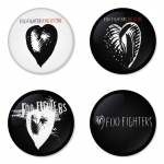 Foo Fighters button badge 1.75 inch custom backside 4 type Pinback, Magnet, Mirror or Keychain. Get 4 in package [2]
