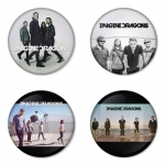 Imagine Dragon button badge 1.75 inch custom backside 4 type Pinback, Magnet, Mirror or Keychain. Get 4 in package [10]