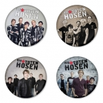 Die Toten Hosen button badge 1.75 inch custom backside 4 type Pinback, Magnet, Mirror or Keychain. Get 4 in package [4]