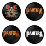 Pantera button badge 1.75 inch custom backside 4 type Pinback, Magnet, Mirror or Keychain. Get 4 in package [3]